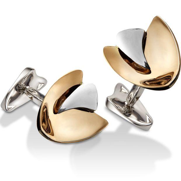 Boutons de manchette or vela7 de lelieur joaillier designer createur